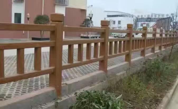 梯形1.8米仿木护栏