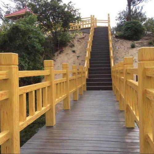 梯形仿木护栏