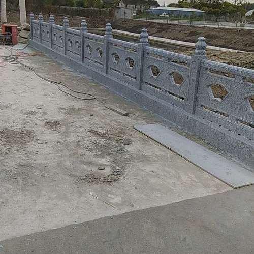 仿石扇形护栏