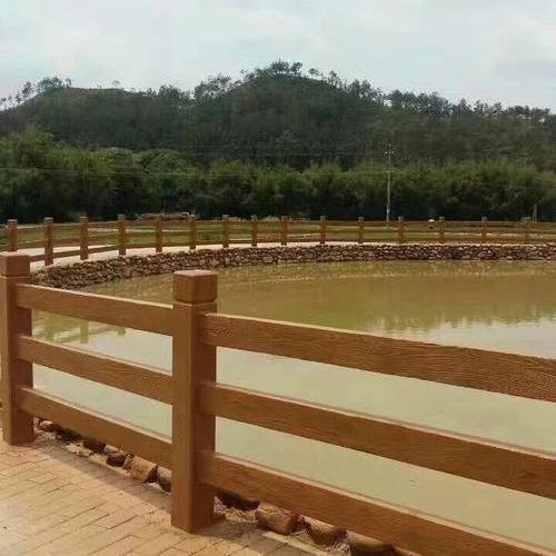 条形仿木护栏