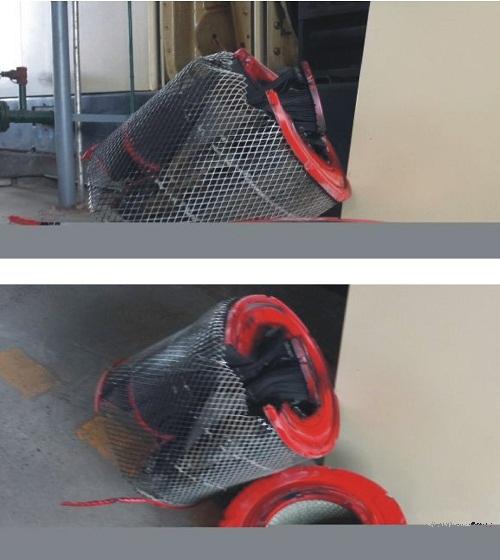 损坏的空压机过滤器