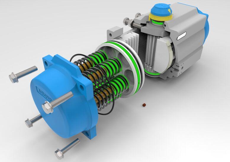 全新PT高性能型气动执行器结构图