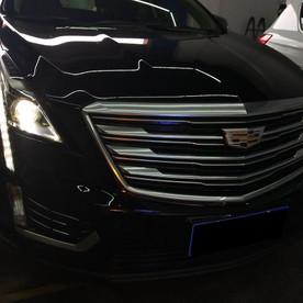 凯迪拉克XT5高配氙气车灯总成改装米石LED智能双光透镜大灯