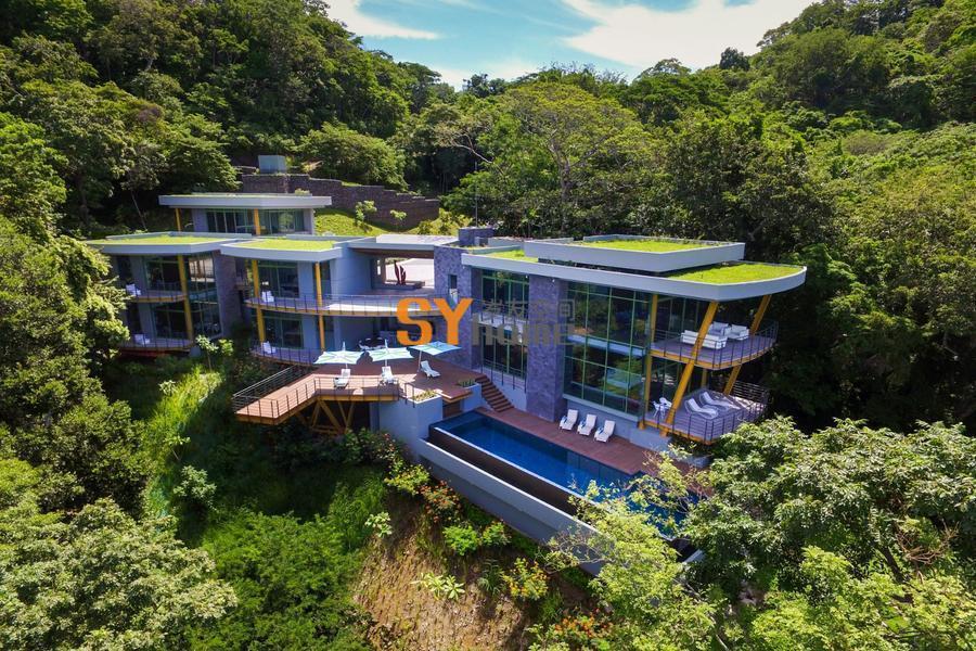 掩映于绿林,依附在山脊的观海住宅