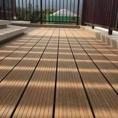 户外竹地板平台