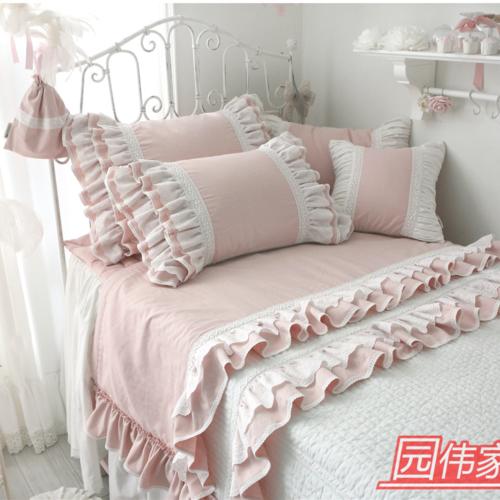 Quatre pièces de lit de coton