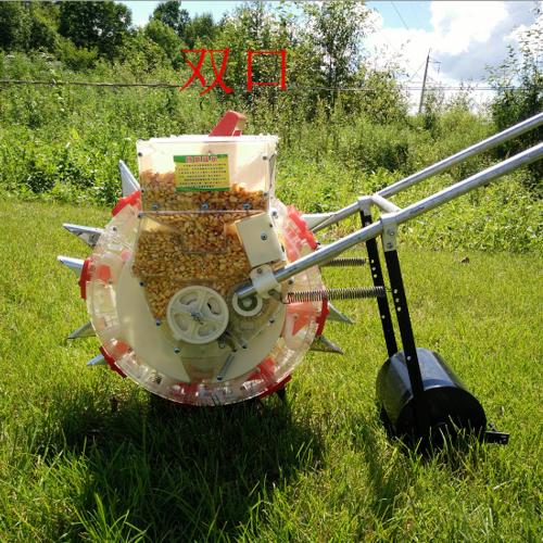 手推式轮滚玉米花生大豆黄豆角播种机