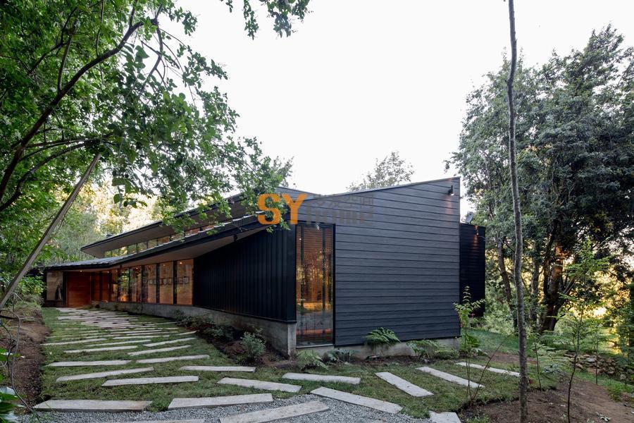 造型独特,视野极佳的Y型住宅