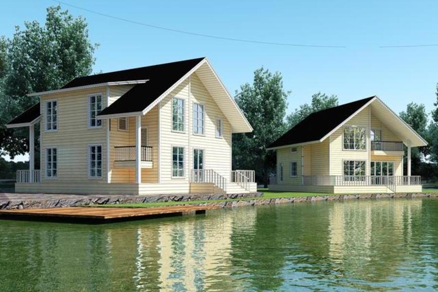 美式简约住宅 钢结构木屋 双层别墅型住宅 三房两室 (1).jpg