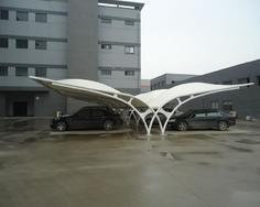 圆管组合膜结构车棚