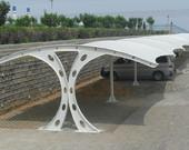 异型钢双开膜结构车棚