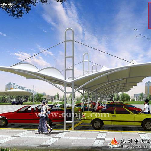 停车棚膜结构方案