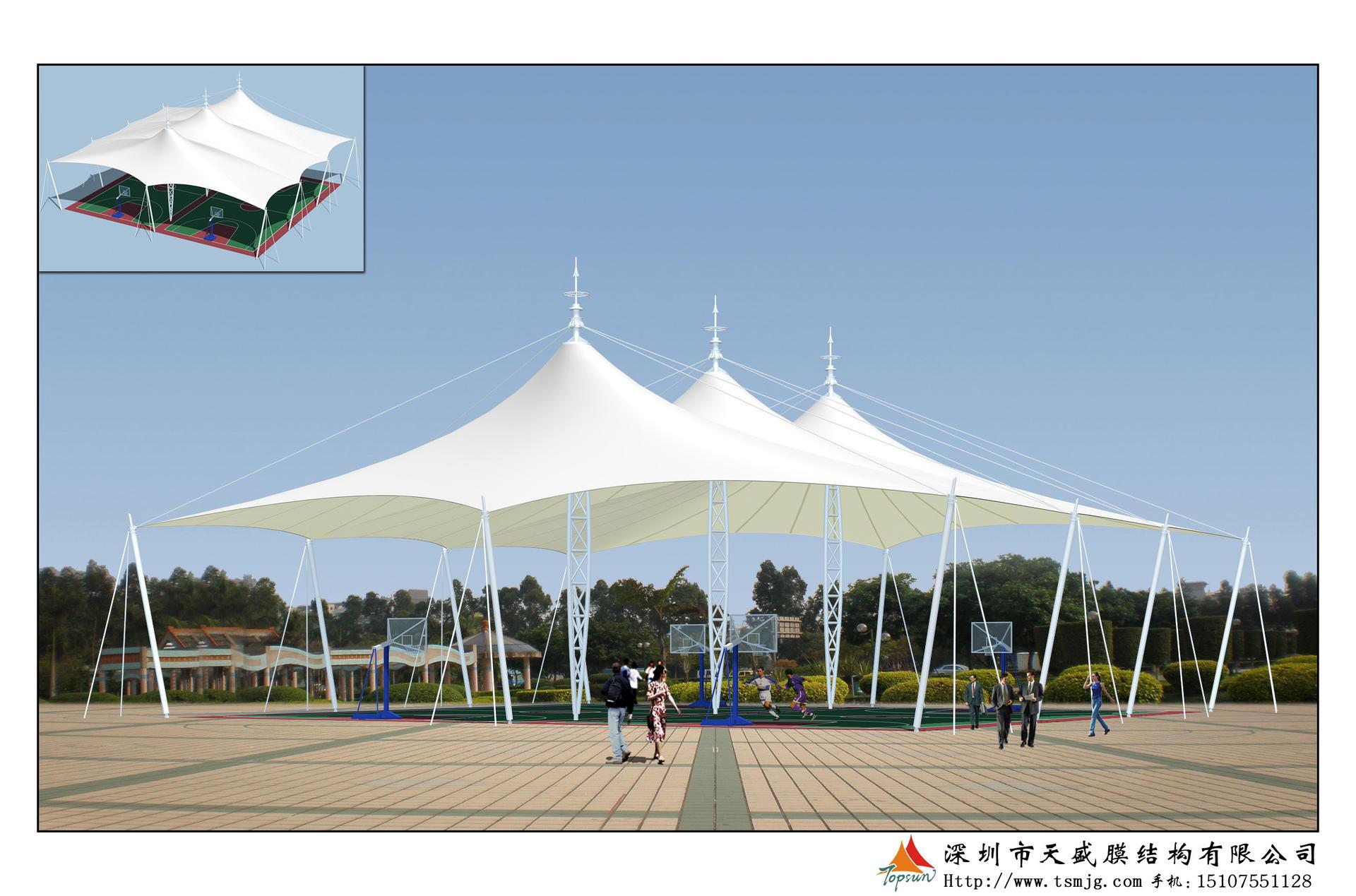 宁乡碧桂园篮球场膜结构