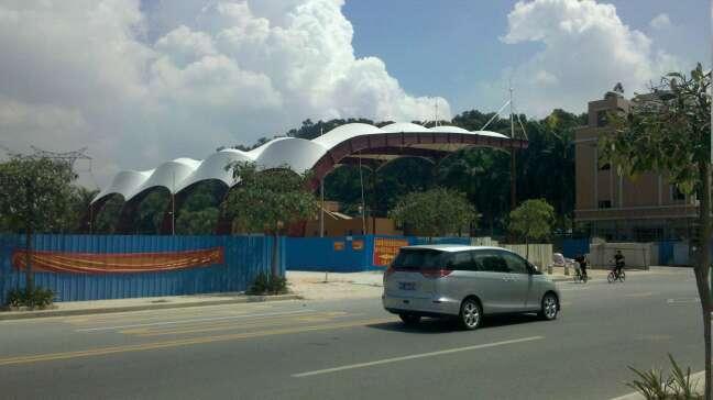 虎门南栅篮球场膜结构