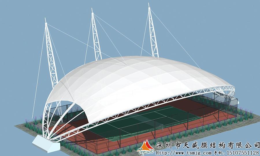 贵州董青水电站篮球场膜结构工程。效果图.jpg