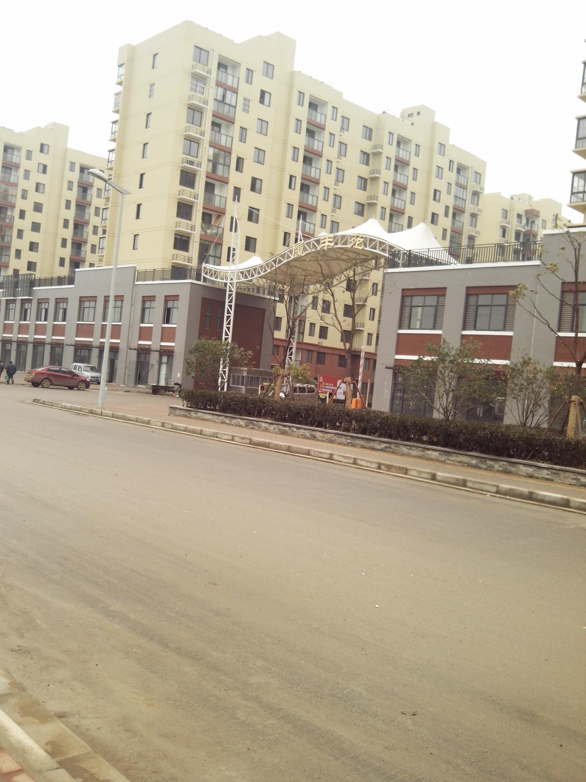 江苏无锡马山安置房小区入口膜结构工程