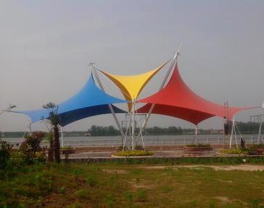 江苏盐城市射阳县滨海公园景观膜结构工程