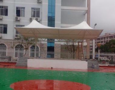 河池罗成县人民医院门球场看台膜结构工程