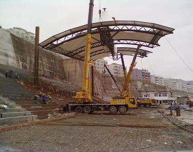 四川雅安汉源二中看台膜结构工程