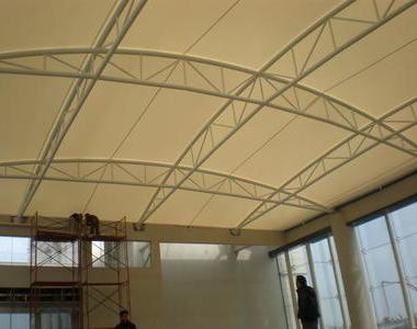 广州御湖名邸会所中庭篮球场膜结构工程