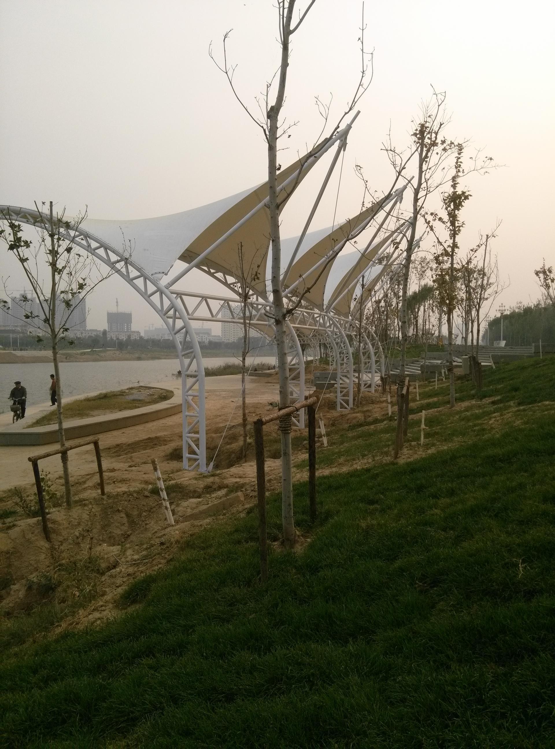 山东聊城市徒骇河景观膜结构工程