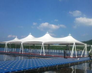 湖南攸县酒仙湖旅游区游泳池膜结构工程