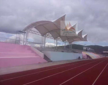 青海玉树果洛民族学校看台膜结构工程