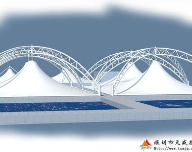广东中山市北部组团垃圾综合污水处理场调节池膜结构工程