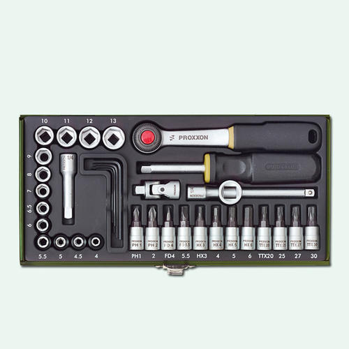 PROXXON迷你魔工程師精密工具組36件裝NO23080