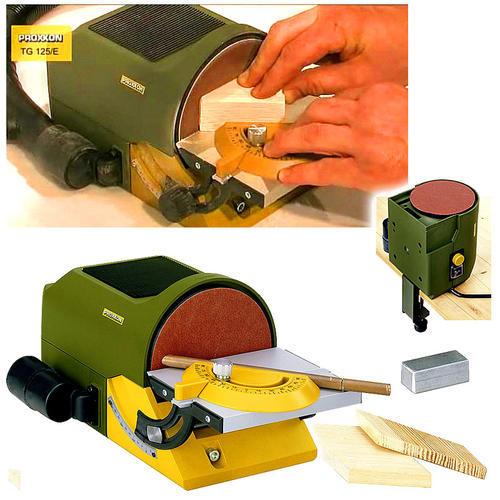 德國PROXXON迷你魔微型砂光機臺式研磨機木工打磨砂盤機NO27060