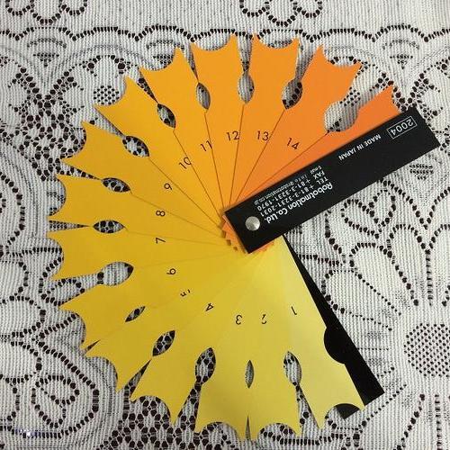 罗氏比色扇/蛋黄颜色测定仪/蛋黄比色扇/蛋黄颜色比色卡