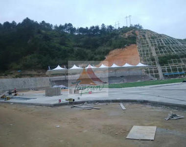 广东梅州大浦实验小学体育看台膜结构工程
