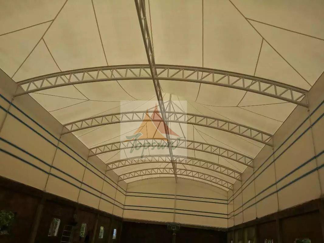 贵州引子渡电厂网球场膜结构工程