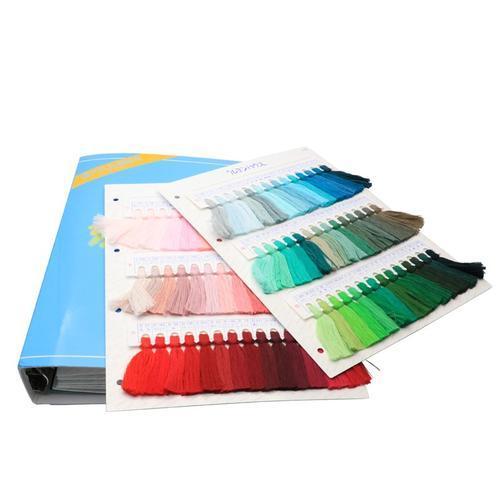 日本三山色卡纺织针织袜子专业色卡线色卡 纱支