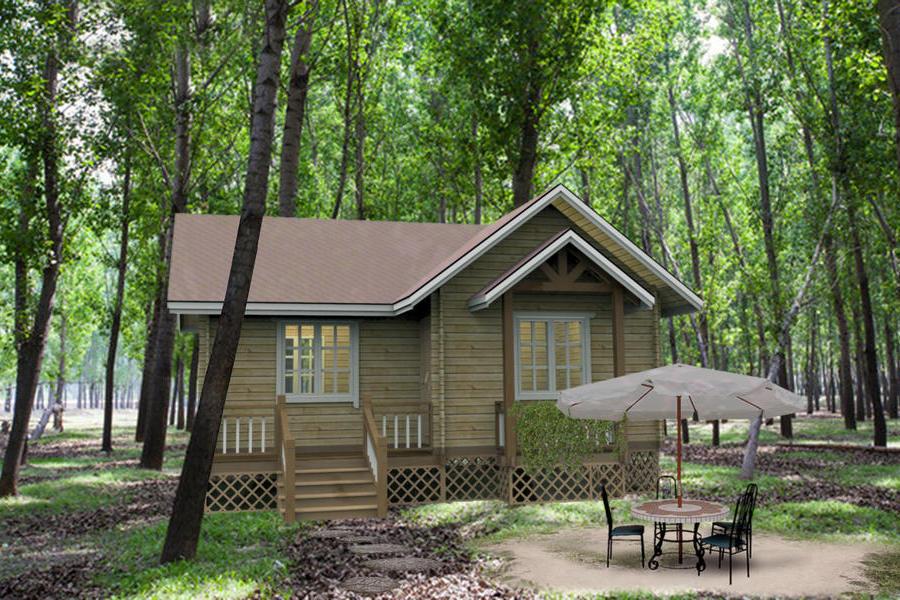 木结构房屋度假别墅
