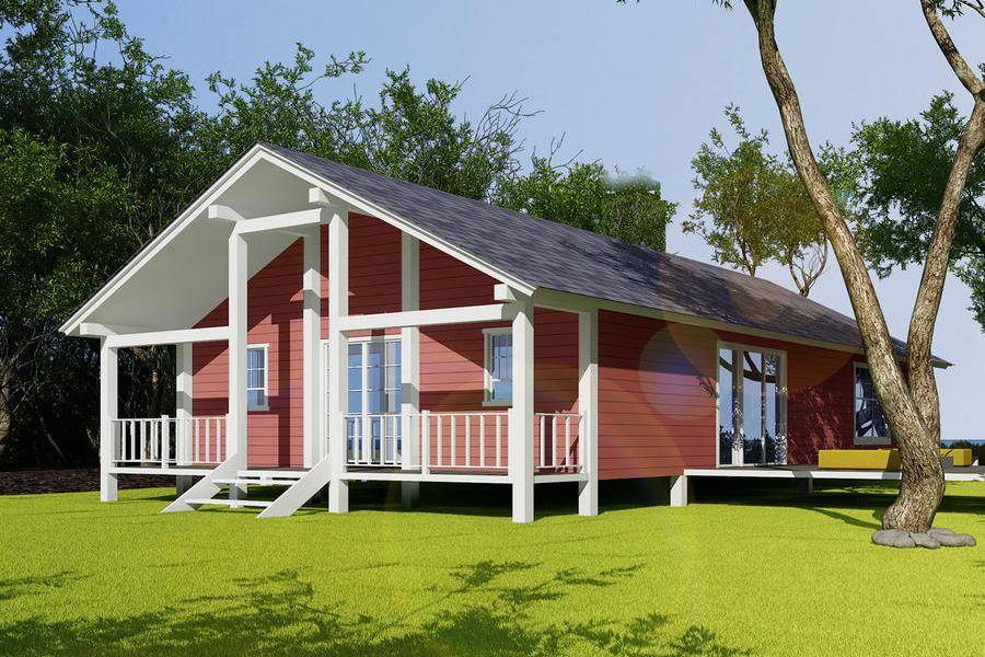 生态木结构别墅