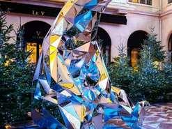 景观不锈钢镜面雕塑
