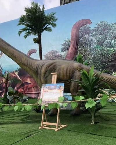 河北仿真恐龙最长的马门溪龙
