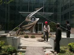 中国航天研究所不锈钢雕塑制作安装