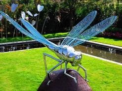 不锈钢镜面蜻蜓雕塑