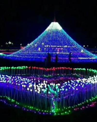 西安十一国庆灯光节厂家主题灯饰画制作出售