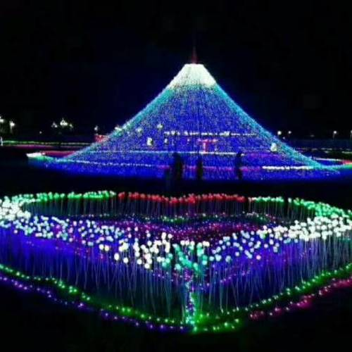 西安十一国庆ope体育APP节厂家主题灯饰画制作出售