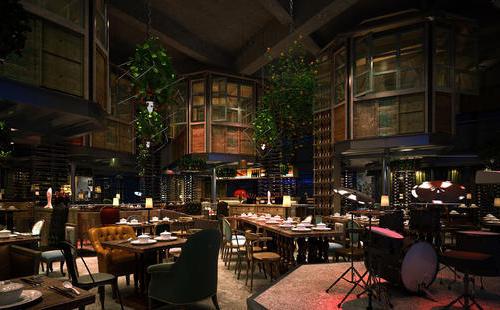提供风格奇特的浪漫的餐厅设计装修-上海浩书设计工作室