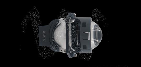 立盯OLED双光透镜大灯模组