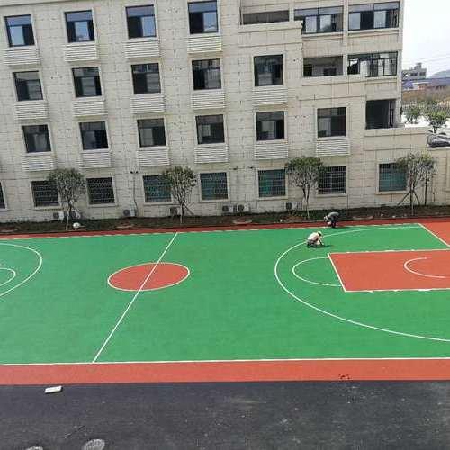 诸暨枫桥派出所塑胶篮球场