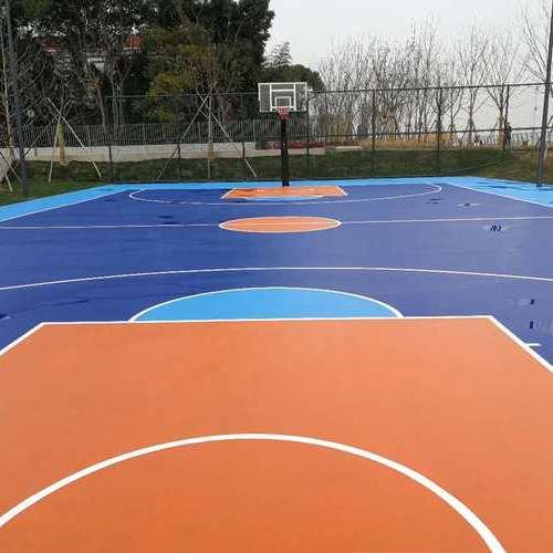 徐汇区滨江公园 硅pu篮球场