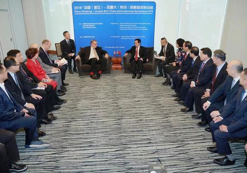 浙江经贸代表团访问BC省洽谈贸易投资