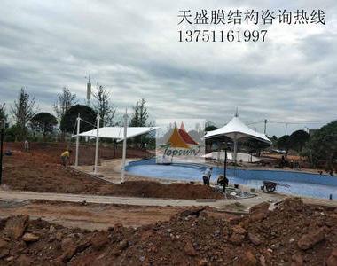 湖南郴州翰林学府景观膜结构工程
