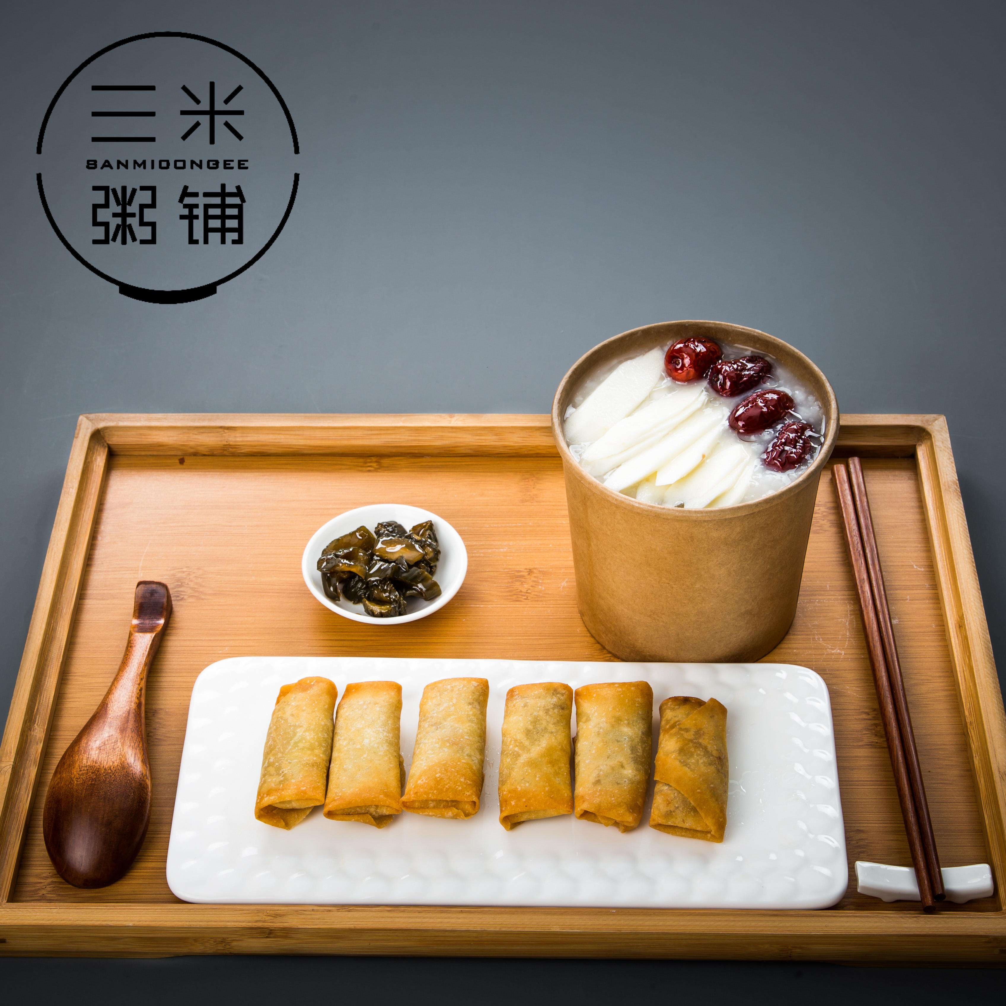 山药红枣粥+春卷+蜂蜜脆瓜.jpg