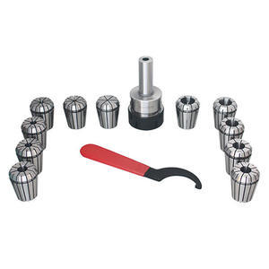 "3/4"" Straight Shank ER32 Chuck With 11pc Collets Set"
